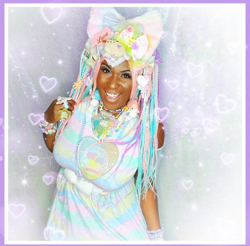 Rainbow Cloud Friends Yume Kawaii Fairy Kei Decora Dress (Made to Order)