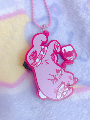 Hurt Bunny Menhera Yami Kawaii Bunny 3-way Necklace