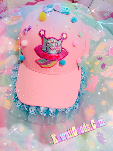 Trixie the space alien UFO Hat, Fairy Kei Hat (Made to Order)