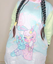 Load image into Gallery viewer, Gianella Baby x Kawaii Goods Collab Bunny Girl LOVE Balloons Hoodie Dress (made to order)