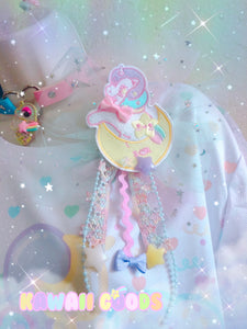 Sweetie Dreams the Unicorn Deco 2-way clip tulle bow