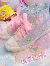 Load image into Gallery viewer, Alien Cutie Reba the alien and Kikko TV Shoes, Fairy Kei Shoes Men (Made to Order)