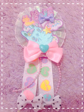 Load image into Gallery viewer, Cici the Bunny LOVE Balloon Rosette 2-way clip