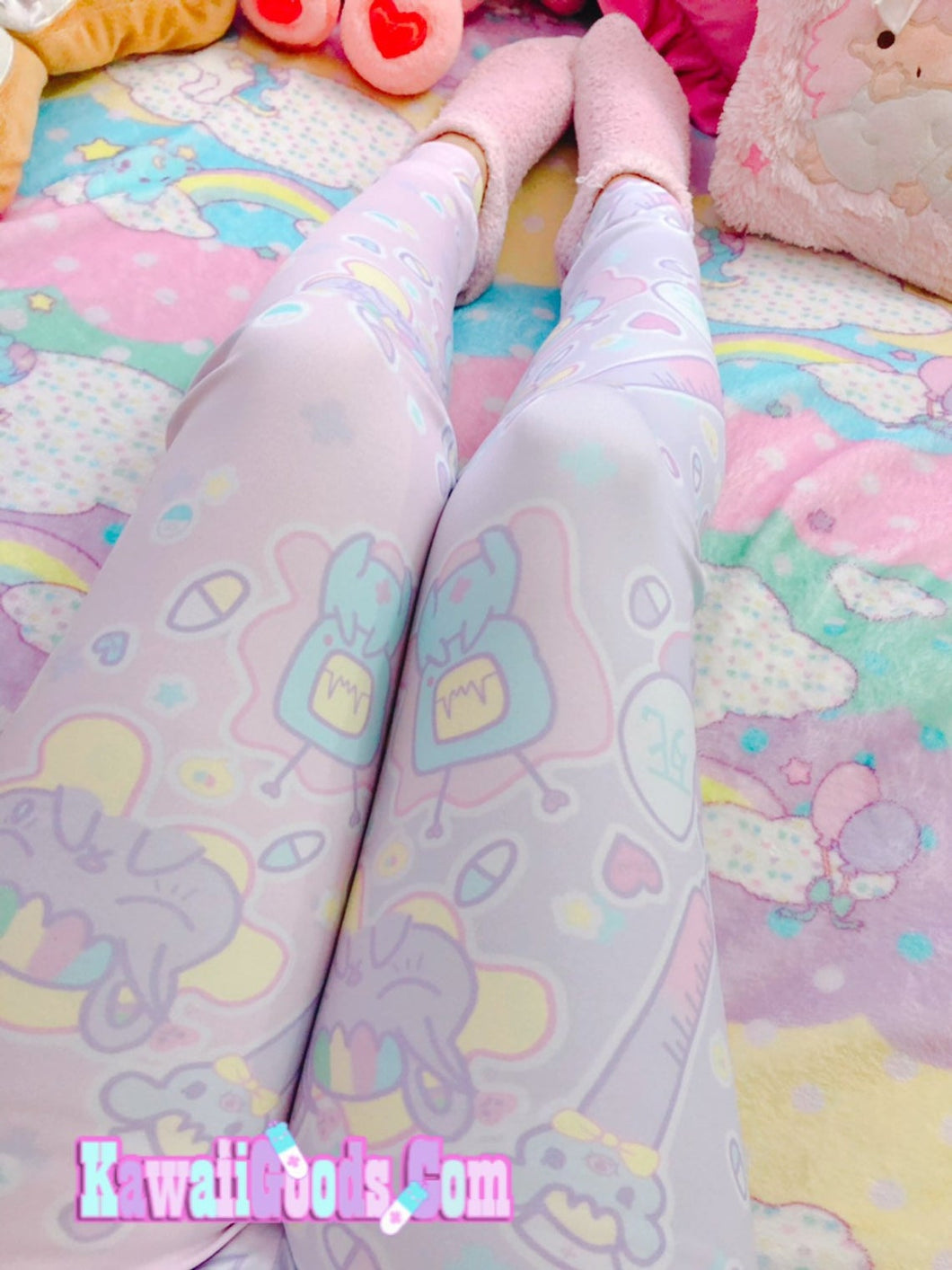 Hurt Bunny Bear Nurse Death Yami Kawaii leggings (Made to Order)