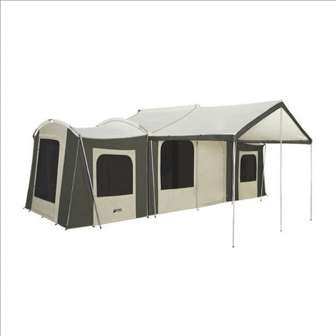 26 x 8 ft. Grand Cabin Canvas Tent with Awning