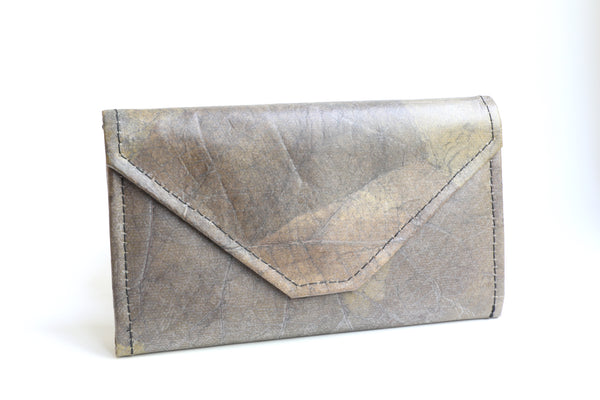 Leaf Leather Convertible Clutch