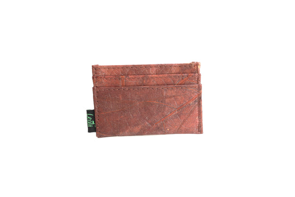 Leaf Leather Slim Card Holder