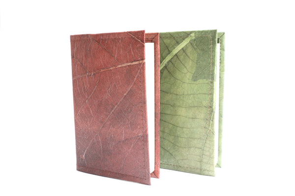 Leaf Leather Note Book Journal