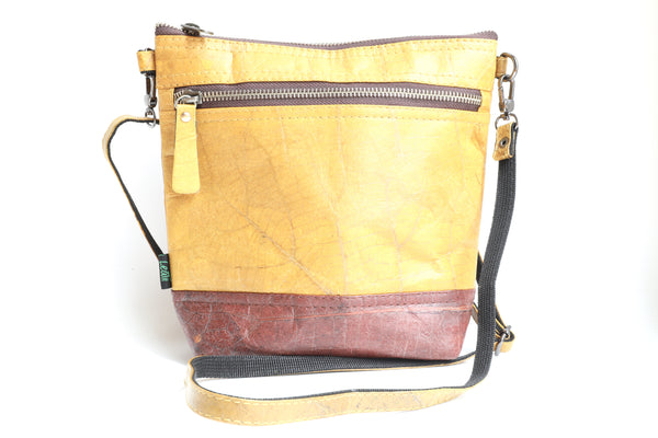 Leaf Leather Convertible Cross-Body Bag