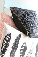 Screen Printed Linen/Cotton Pillow