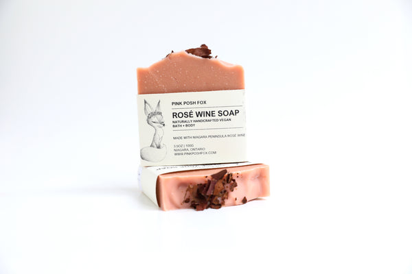 Vegan Rosé Wine Soap Bar