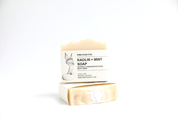 Vegan Kaolin Clay + Mint Soap Bar