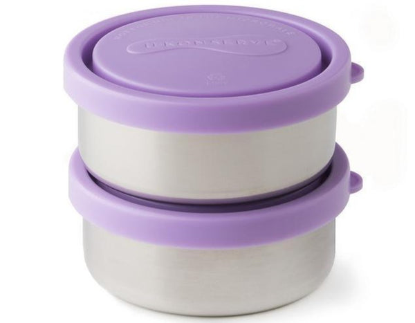 5oz Set of 2 Round Stainless Steel Containers
