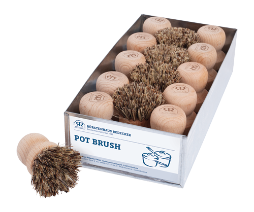 Natural Pot Scrubber Brush
