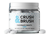 Nelsons Naturals Crush + Brush Toothpaste Tablets Jar