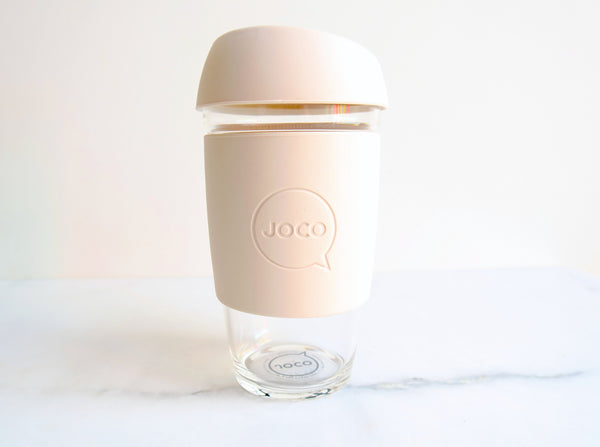 Reusable Glass Travel Cup