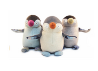 Upcycled Wool Stuffed Penguin
