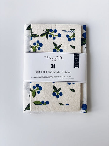 Sponge Cloth + Tea Towel Gift Set (by Ten & Co.)