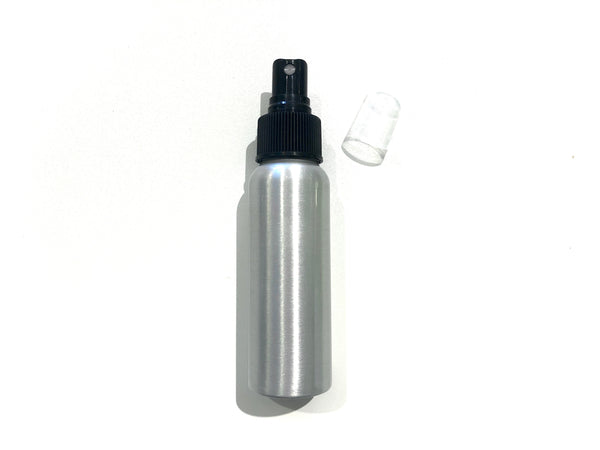 2.7oz Aluminum Bottle with Spray Mister Cap