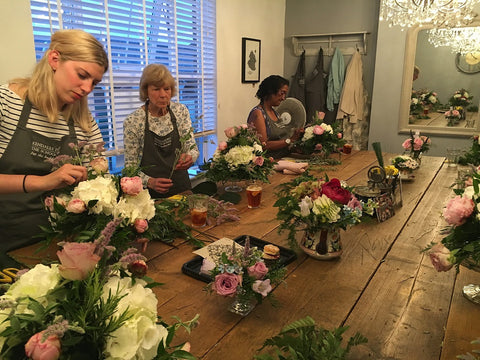 Vintage Flowers Course at Kendall Florist - The School Room