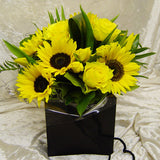 Sunflower Boxed Hand Tied