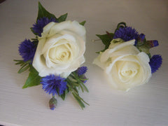 Rose and Cornflower Buttonhole