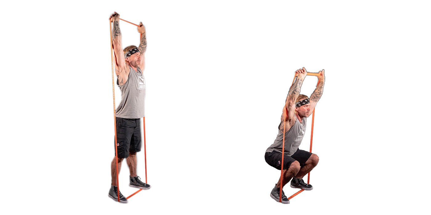 Resistance Band Overhead Squat The Ultimate Bang For Your Buck