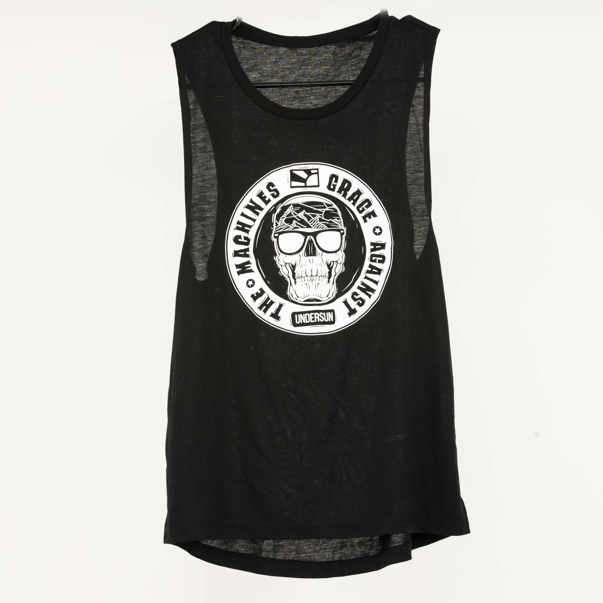"Undersun Women's ""Grage Against the Machines"" Flowy Scoop Tank -  - Undersun Fitness"