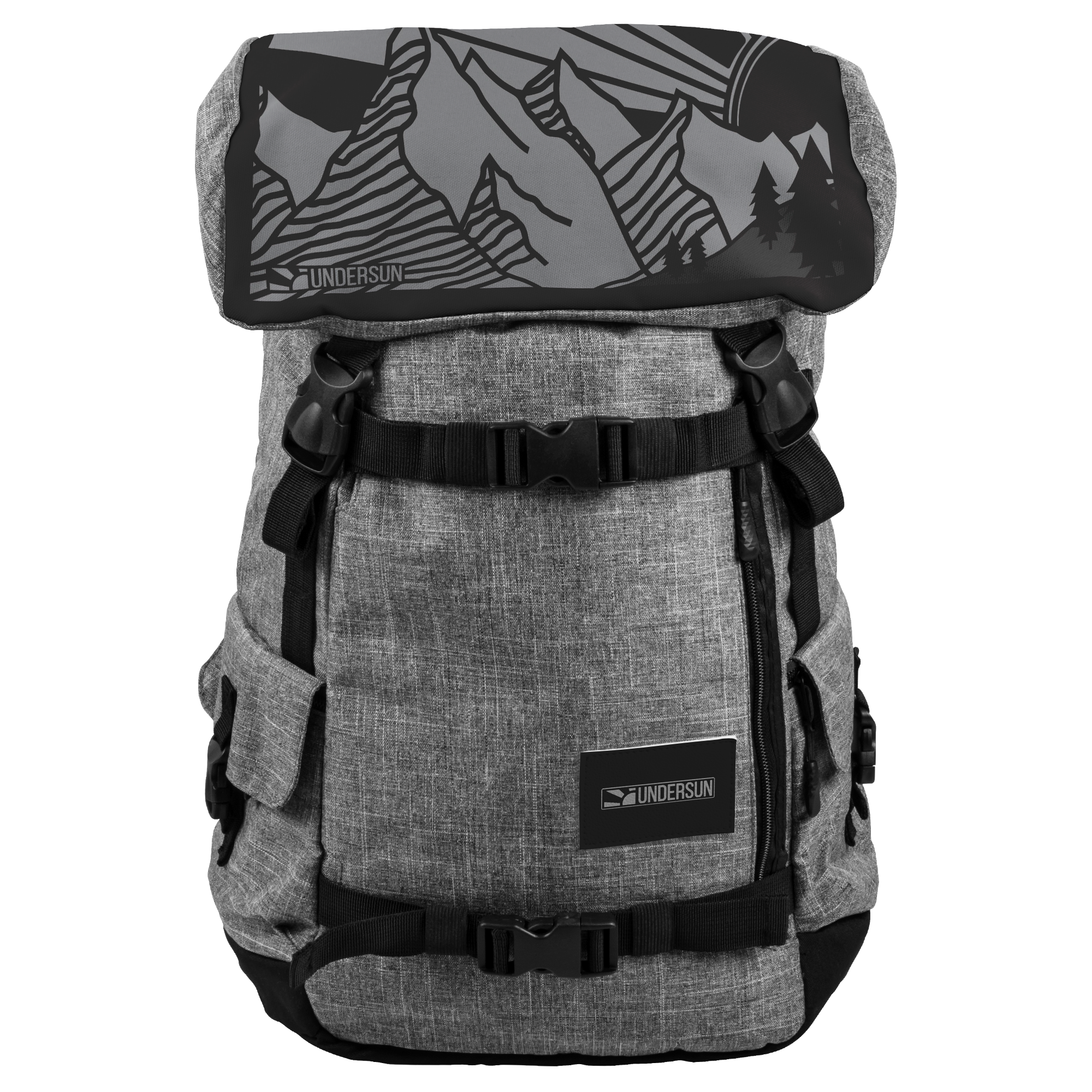 Undersun Signature Backpack - Mountain Sun - backpack / Grey/Black - Undersun Fitness