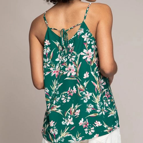 STRAPPY TIE BACK PRINTED TOP