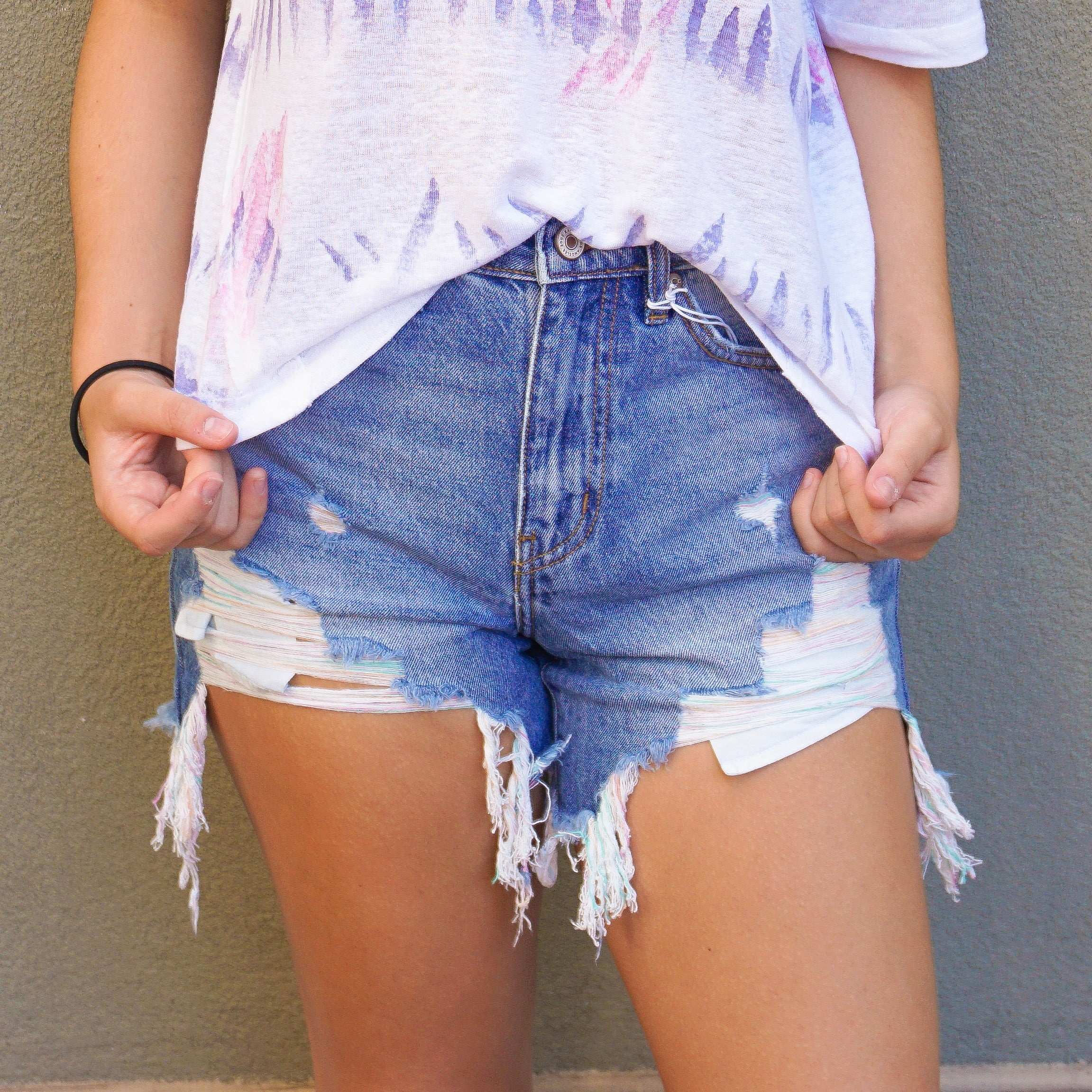 CANDY GIRL DENIM SHORTS