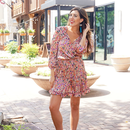 FALL FOR YOU FLORAL DRESS