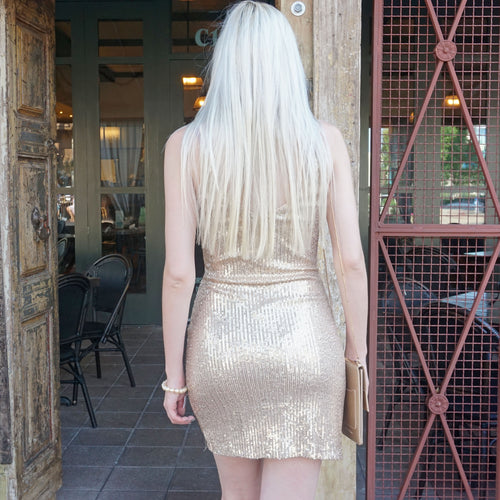ON THE TOWN SEQUIN DRESS