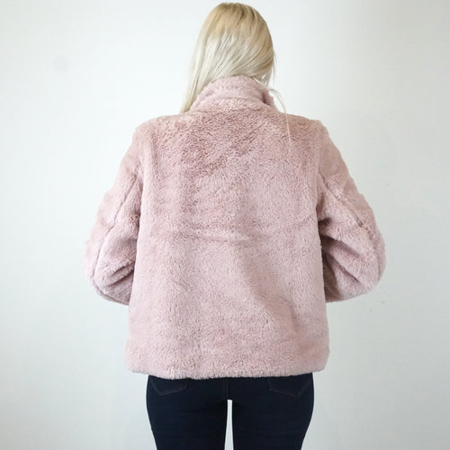 CUDDLED UP BLUSH JACKET