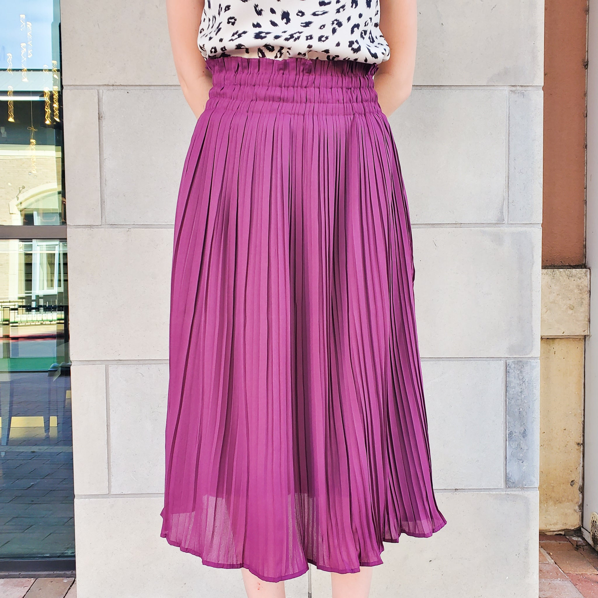PENELOPE PLEATED SKIRT