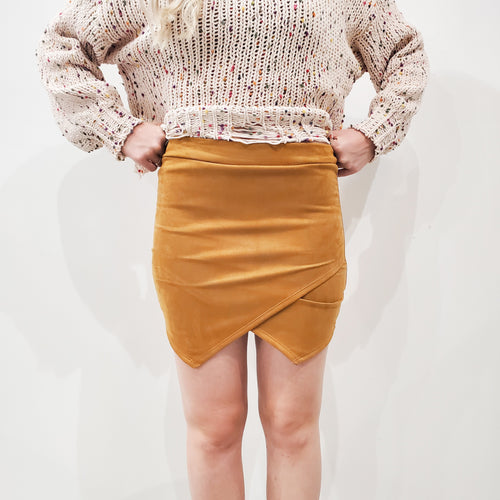 MUSTARD ENVELOPE SKIRT