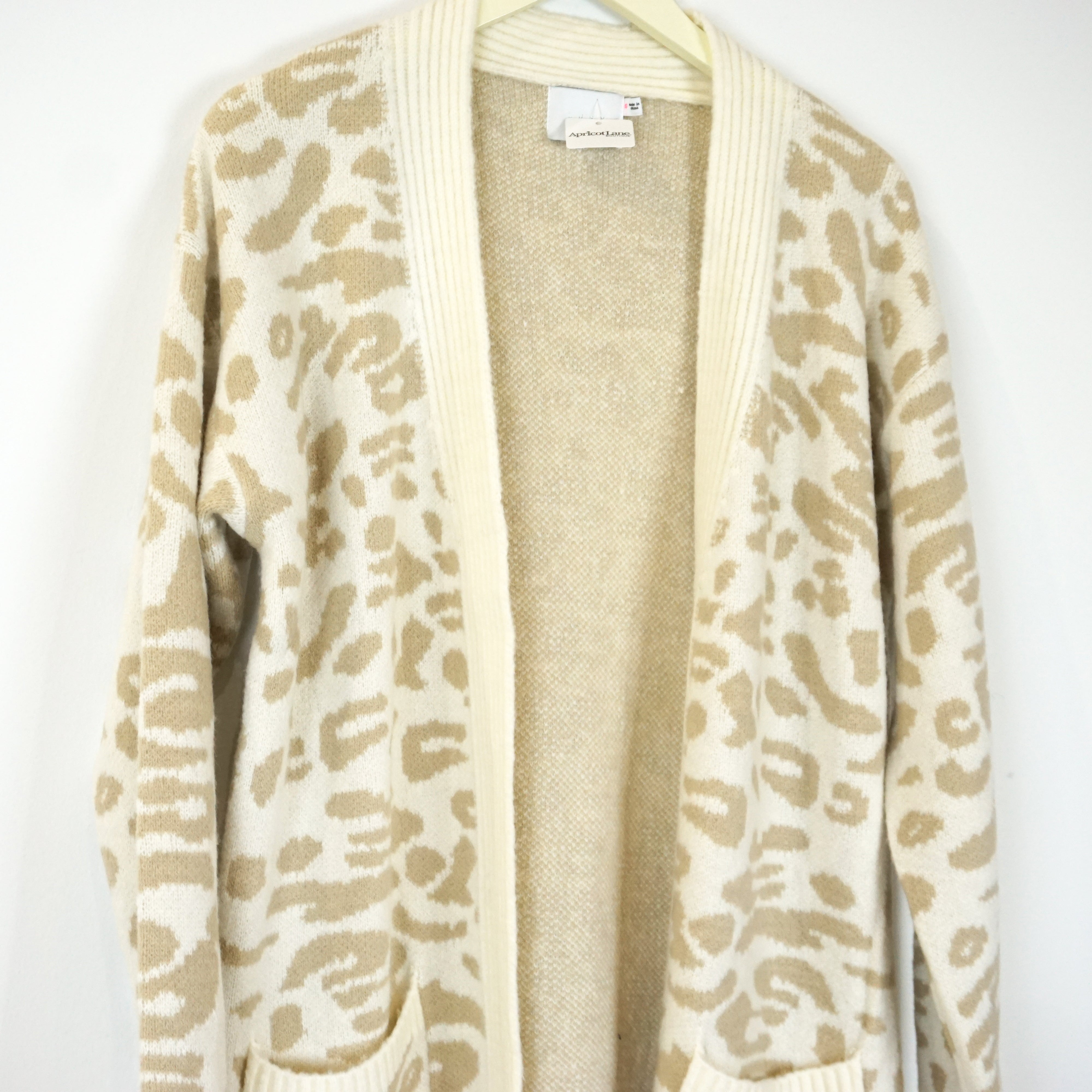 COZY SNOW LEOPARD CARDIGAN
