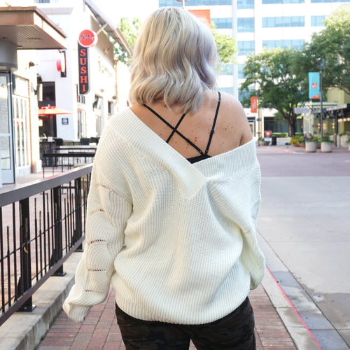 SNOW WAY KNIT SWEATER