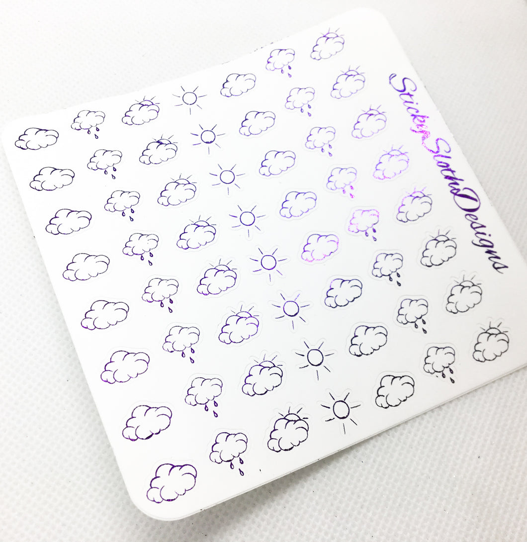 Weather Foiled Planner Stickers