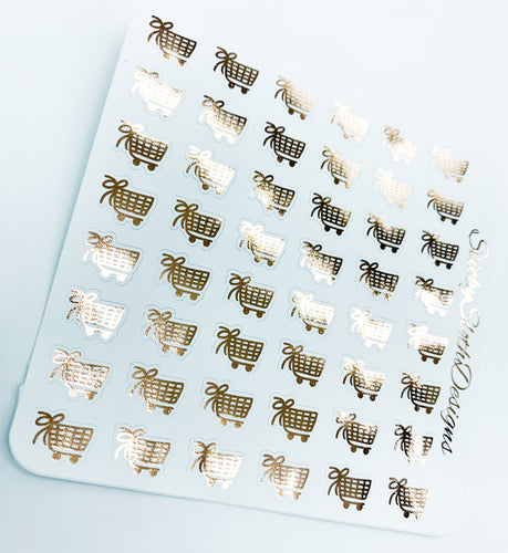 Bow Icon Foiled Planner Stickers
