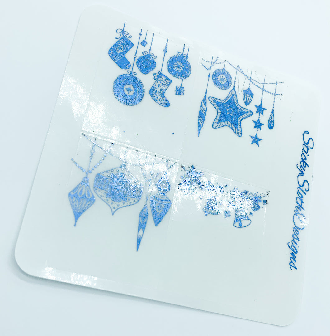 Ornament Full Box Foiled Overlay Stickers