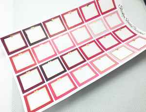 Shades of Pink Foiled Hobonichi Weeks Functional Boxes