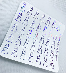 Apron Foiled Planner Stickers