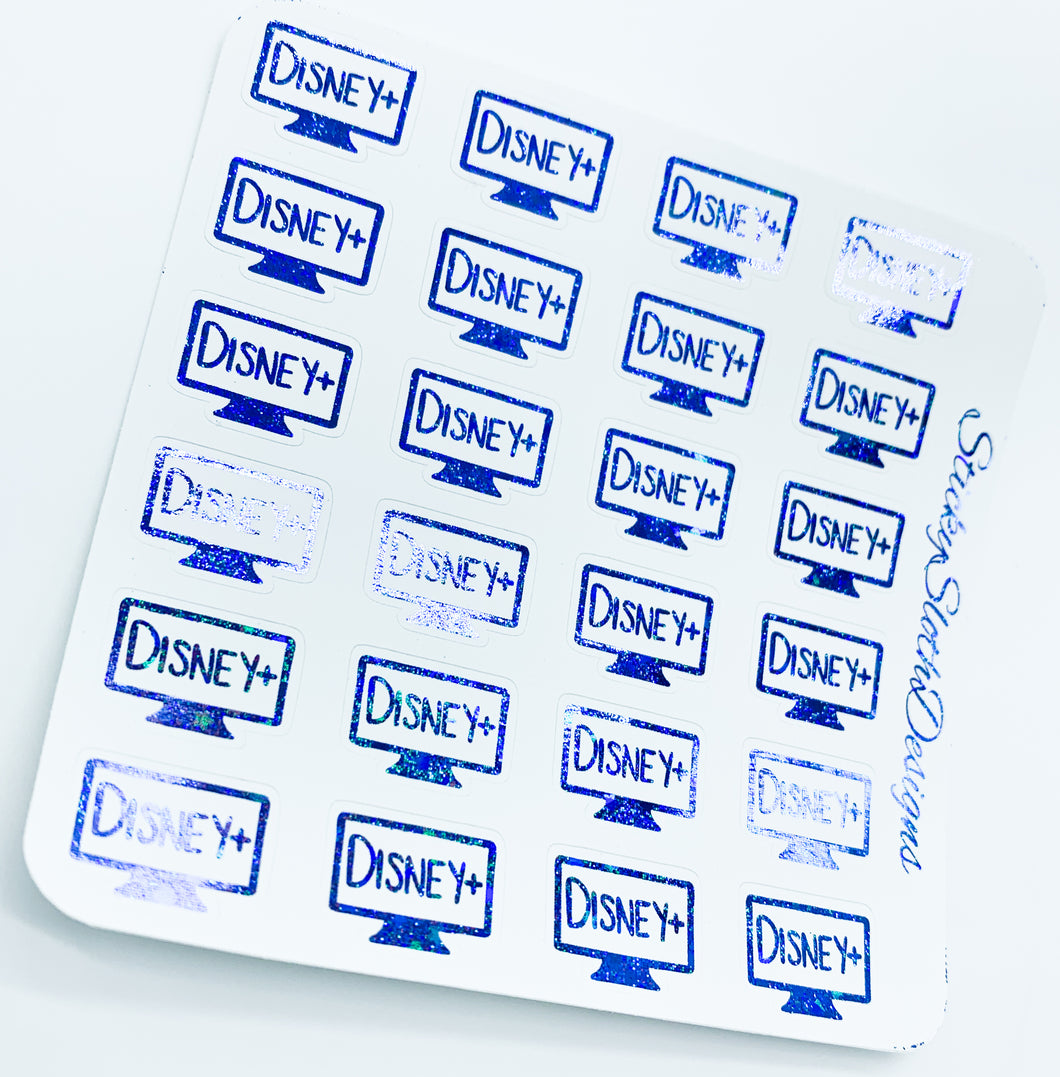 Disney+ TV Foiled Planner Stickers