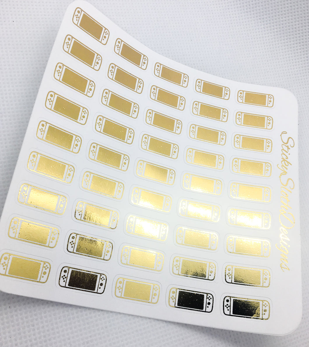 Switch Control Foiled Planner Stickers