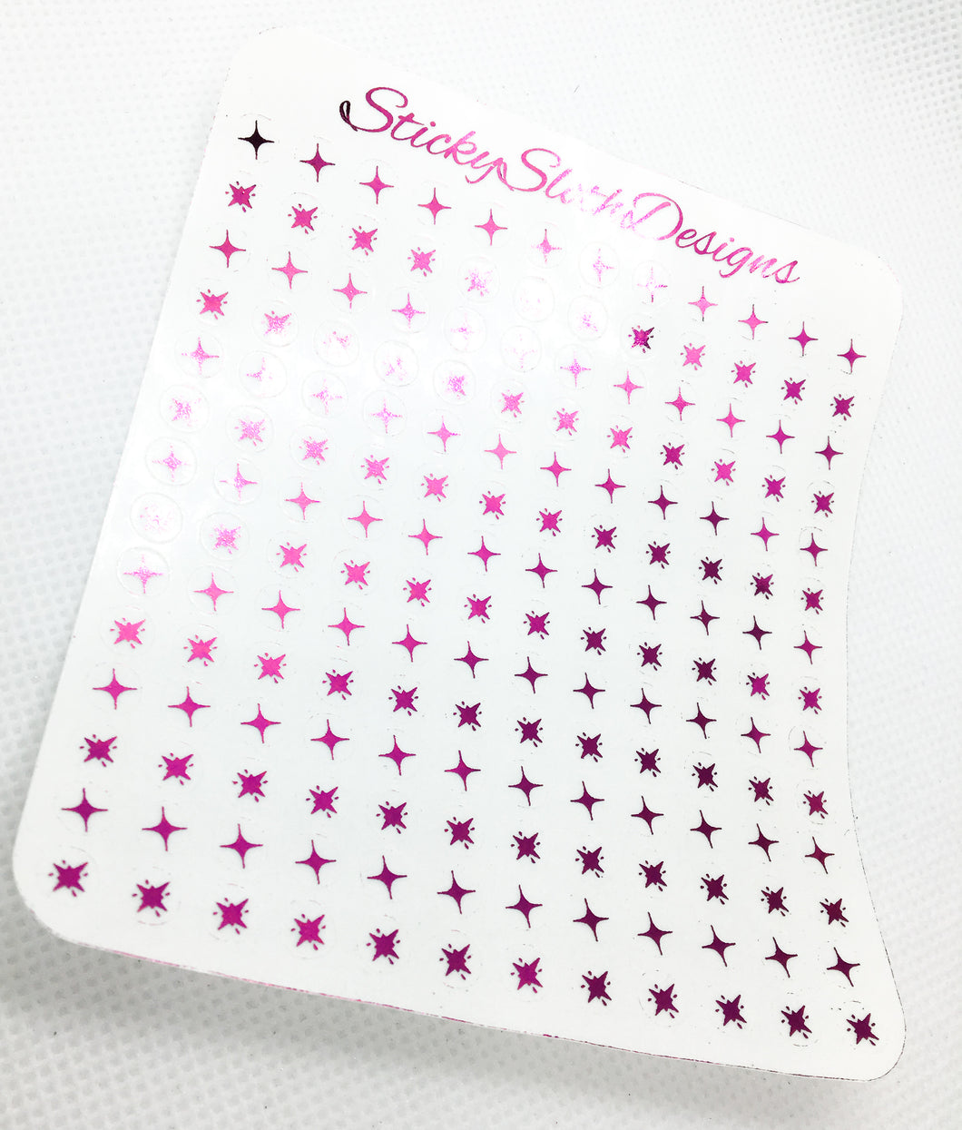 Foiled Twinkle Accent Transparent Stickers