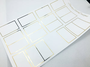 Foldover Box Foiled Planner Stickers