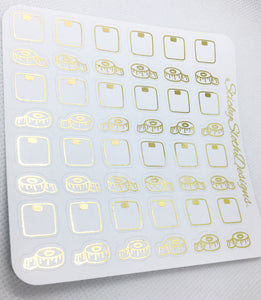 Weight Check Foiled Planner Stickers