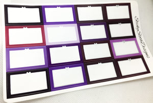 Shades of Purple Foiled Heart Half Boxes