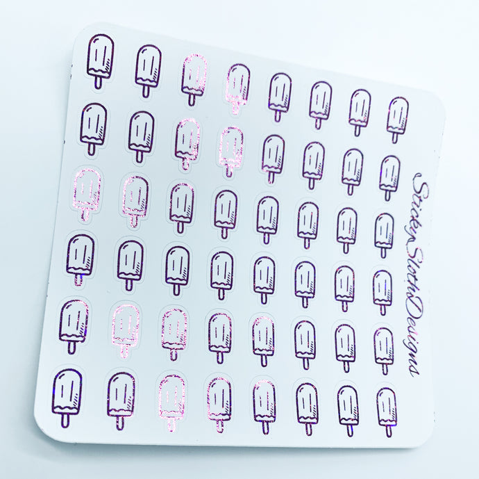 Popsicle Foiled Planner Stickers